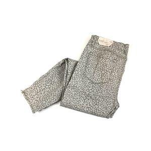 Loft Cheetah Print Modern Skinny Ankle Jeans